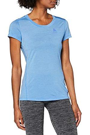 Odlo BL Top Crew Neck s/s Natural Light Camiseta, Mujer