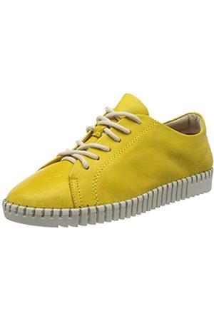 Tamaris 1-1-23606-24 Leder, Zapatos de Cordones Derby para Mujer, (Sun 602)