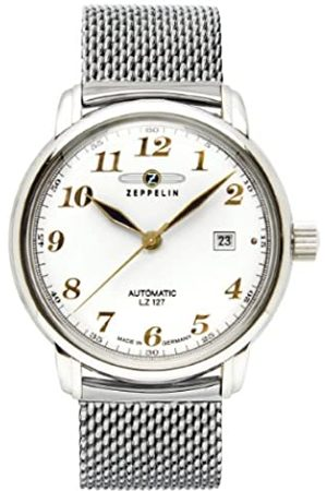 Zeppelin Watches-RelojanalógicoautomáticoparaHombreconCorreadeAceroInoxidable