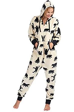 Hatley Hooded Fuzzy Fleece Bear Family Jumpuits Pijama de una Pieza
