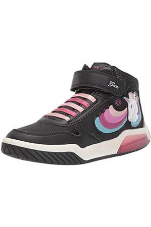 Geox J INEK Girl B, Zapatillas Altas para Niñas, (Black C9999)