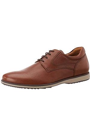 Geox U Blainey C, Zapatos de Cordones Derby para Hombre, (Cognac C6001)