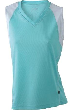 James & Nicholson Ladies' Running Tank - Camiseta Transpirable sin Mangas de Running para Mujer, Color Menta/