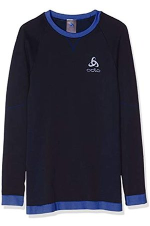 Odlo Bl Top Crew Neck L/S Performance Warm Ki Camiseta, Niños, Diving Navy-Energy Blue