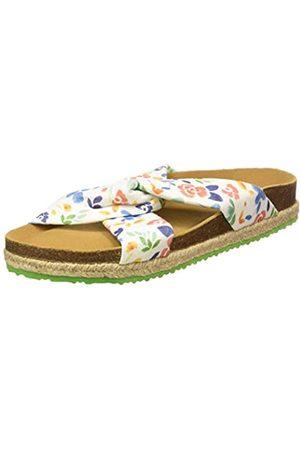 Paez Sandal Knot Flowery, Sandalias con Punta Abierta para Mujer, ( 100)