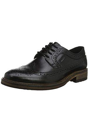 Marc Brentwood, Zapatos de Cordones Brogue para Hombre, (Cow Velvet Black 00944)