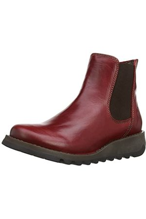 Fly London Salv, Botas Chelsea para Mujer, (Red)