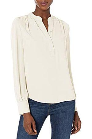 Lark & Ro Long Sleeve Band Collar Gathered Detail Blouse dress-shirts
