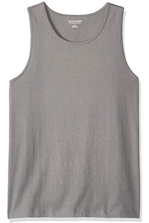 Amazon Camiseta lisa sin mangas de corte entallado para hombre