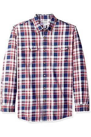 Amazon Camisa de sarga con dos bolsillos y manga larga para hombre