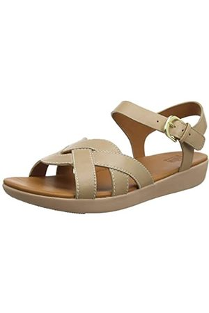 FitFlop Elyna Weave Back-Strap Sandals, Sandalia con Pulsera para Mujer, (Beechwood 734)