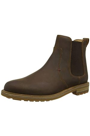 Clarks Foxwell Top, Botas Chelsea para Hombre, (Beeswax Leather Beeswax Leather)