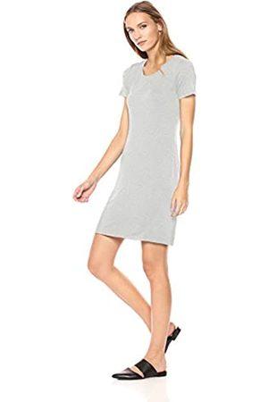 Daily Ritual Marca Amazon - - Vestido camiseta de punto de manga corta y cuello redondeado para mujer