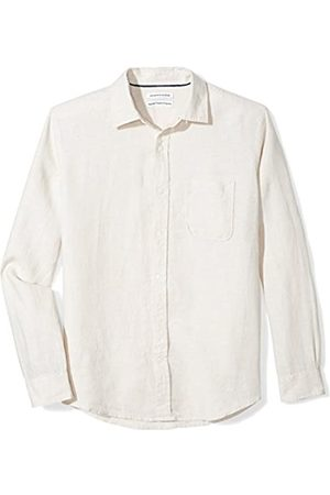 Amazon Essentials Long-Sleeve Linen Shirt Camisa