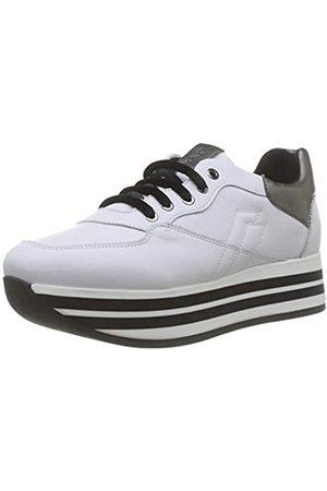 Frau Sneakers, Zapatillas de Gimnasia para Mujer, Bianco