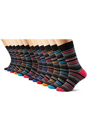 FM London Multi-Stripe Calcetines, Talla única (Talla del Fabricante: UK 6-11) para Hombre
