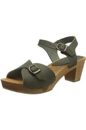 Sanita Tiana Square Flex Sandal, Sandalia con Pulsera para Mujer, (Khaki 43)