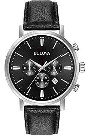 Bulova Classic Aerojet 96B262 - Reloj de Pulsera de Diseño para Hombre - Función de Cronógrafo - Correa de Cuero