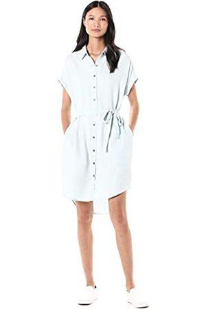 Goodthreads Tencel Short-Sleeve Shirt Dress, Discharge Print