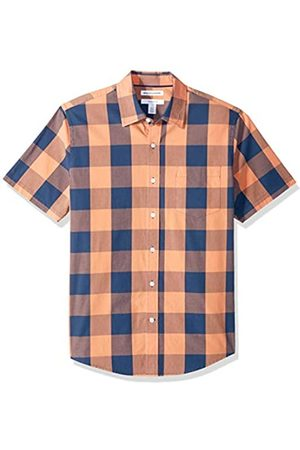 Amazon – Camisa de popelín de manga corta de corte entallado para hombre