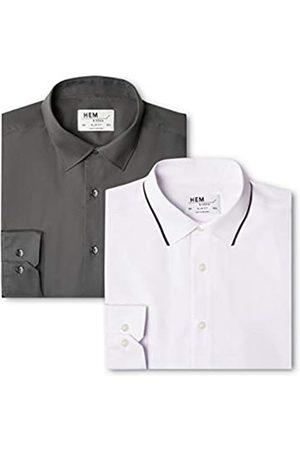 find. Slim Fit Collar, Camisa de Oficina para Hombre, 54 (Talla del Fabricante: 16.5)