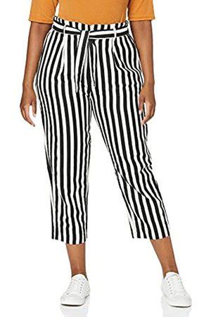 Herrlicher Comfy Black and Linen Stripes Pantalones