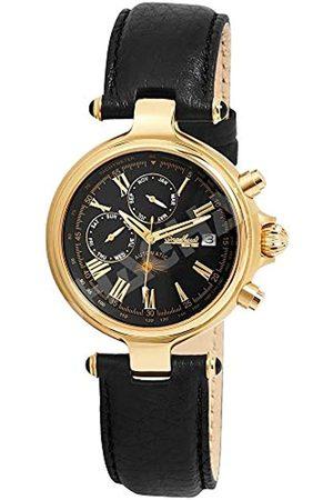 Engelhardt 385701029028 - Reloj analógico de caballero automático con correa de piel negra - sumergible a 50 metros