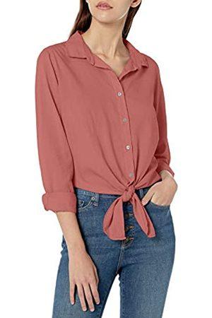 Goodthreads Lightweight Poplin Tie-Front Shirt Dress-Shirts