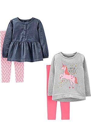 Simple Joys by Carter's Juego de ropa de juego de 4 piezas de manga larga para bebés y niñas