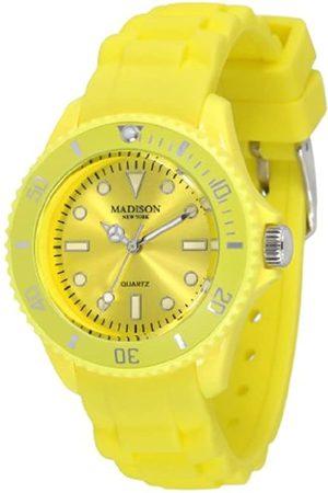 Madison New York Reloj Análogo clásico para Unisex de Cuarzo con Correa en Caucho L4167-21