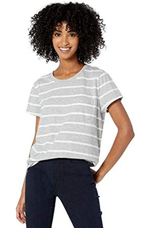 Goodthreads Washed Jersey Cotton Pocket Crewneck T-Shirt fashion-t-shirts, Heather Grey Open Stripe