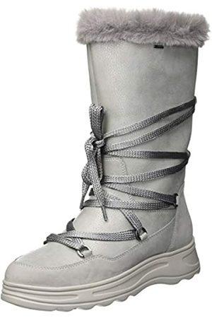 Geox D HOSMOS B ABX B, Botas de Nieve para Mujer, (Silver/Lt Grey C0898)
