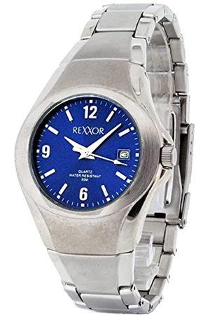 Rexxor Hombre-reloj analógico de cuarzo acero inoxidable 242-7105-98