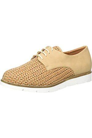 The Divine Factory Lucy, Zapatos de Cordones Derby para Mujer, Crudo ( 005)