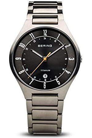 Bering Reloj Analógico para Hombre de Cuarzo con Correa en Titanio 11739-772