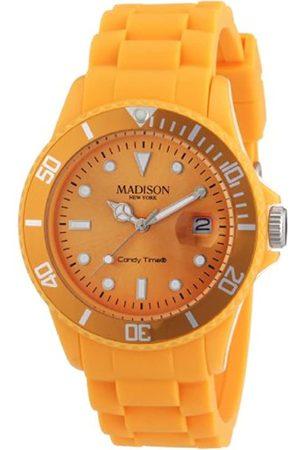 Madison New York Reloj Análogo clásico para Mujer de Cuarzo con Correa en Caucho U4167-22