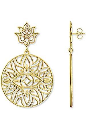 Thomas Sabo D_H0008-924-39 - Pendientes para mujer (1 par, plata chapada en oro, diamantes de 0,2 ct)