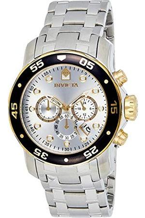 Invicta 80040 Pro Diver - Scuba Reloj para Hombre inoxidable Cuarzo Esfera plata