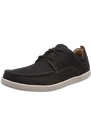 Clarks Un Lisbon Lace, Zapatos de Cordones Derby para Hombre, (Black Canvas-)