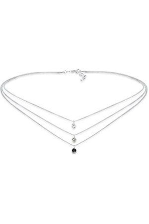 Elli Mujer Plata de ley (925/1000) plata redondo blanco cristal de swarovski