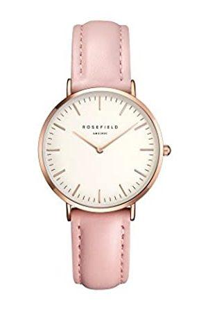 Rosefield The Tribeca Cuarzo - Reloj (Reloj de Pulsera, Femenino, Rose Gold, Cuero