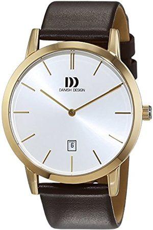 Danish Design Hombre-Reloj analógico de Cuarzo de Cuero 3310090