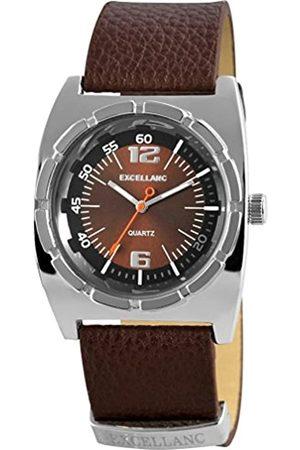 Excellanc 295027000095 - Reloj analógico de Cuarzo para Hombre con Correa de Piel