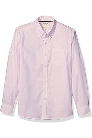 Goodthreads Standard-Fit Long-Sleeve Stretch Oxford Shirt (All Hours) Button-Down-Shirts, Pink Bengal Stripe