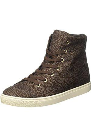 Borbonese Sneakers Alta, Zapatillas Altas para Mujer, (Tundra F63)