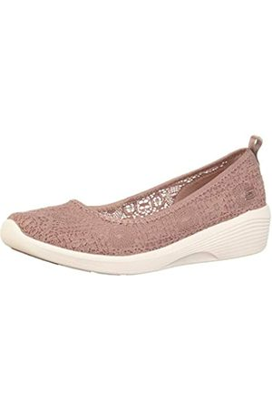 Skechers Arya-Airy Days, Bailarinas con Punta Cerrada para Mujer, (Mauve Crochet/White Trim MVE)