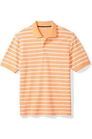 Amazon Regular-fit Striped Cotton Pique Polo Shirt
