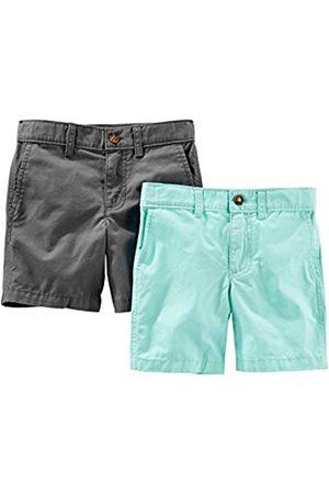Simple Joys by Carter's Pantalones cortos de frente plano para niños, paquete de 2