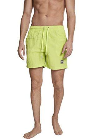 Urban Classics Block Swim Shorts Pnt, Pantalones Cortos para Hombre, (Frozen Yellow 01494)