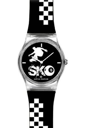 Alpha Saphir 315H - Reloj analógico Unisex de Cuarzo con Correa de plástico - Sumergible a 30 Metros